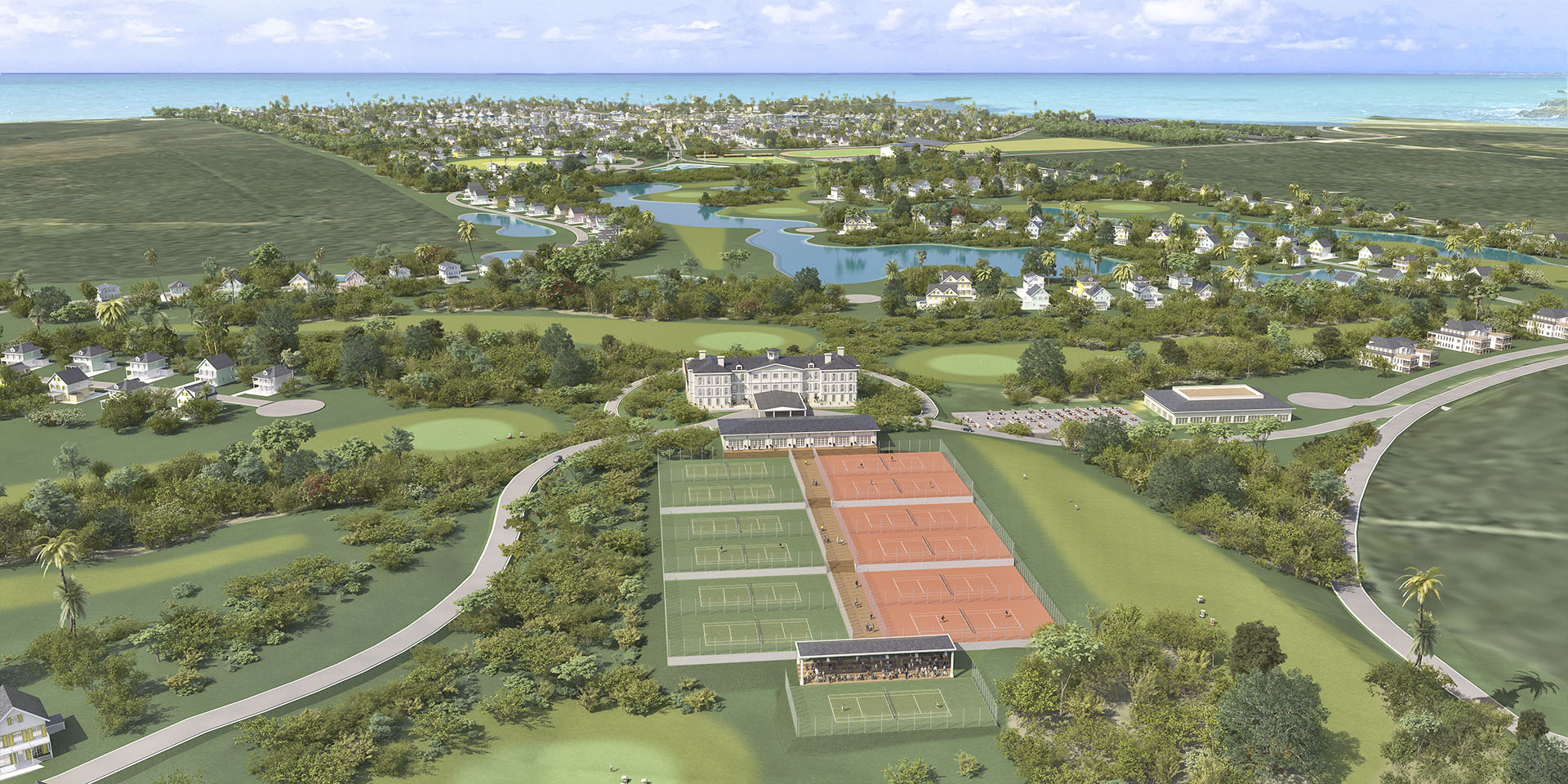 Aerial View of Golf, Tennis & Swim Club