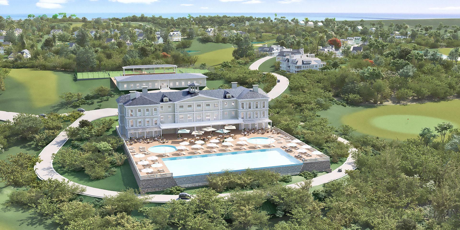 Aerial View of Golf, Tennis & Swim Club